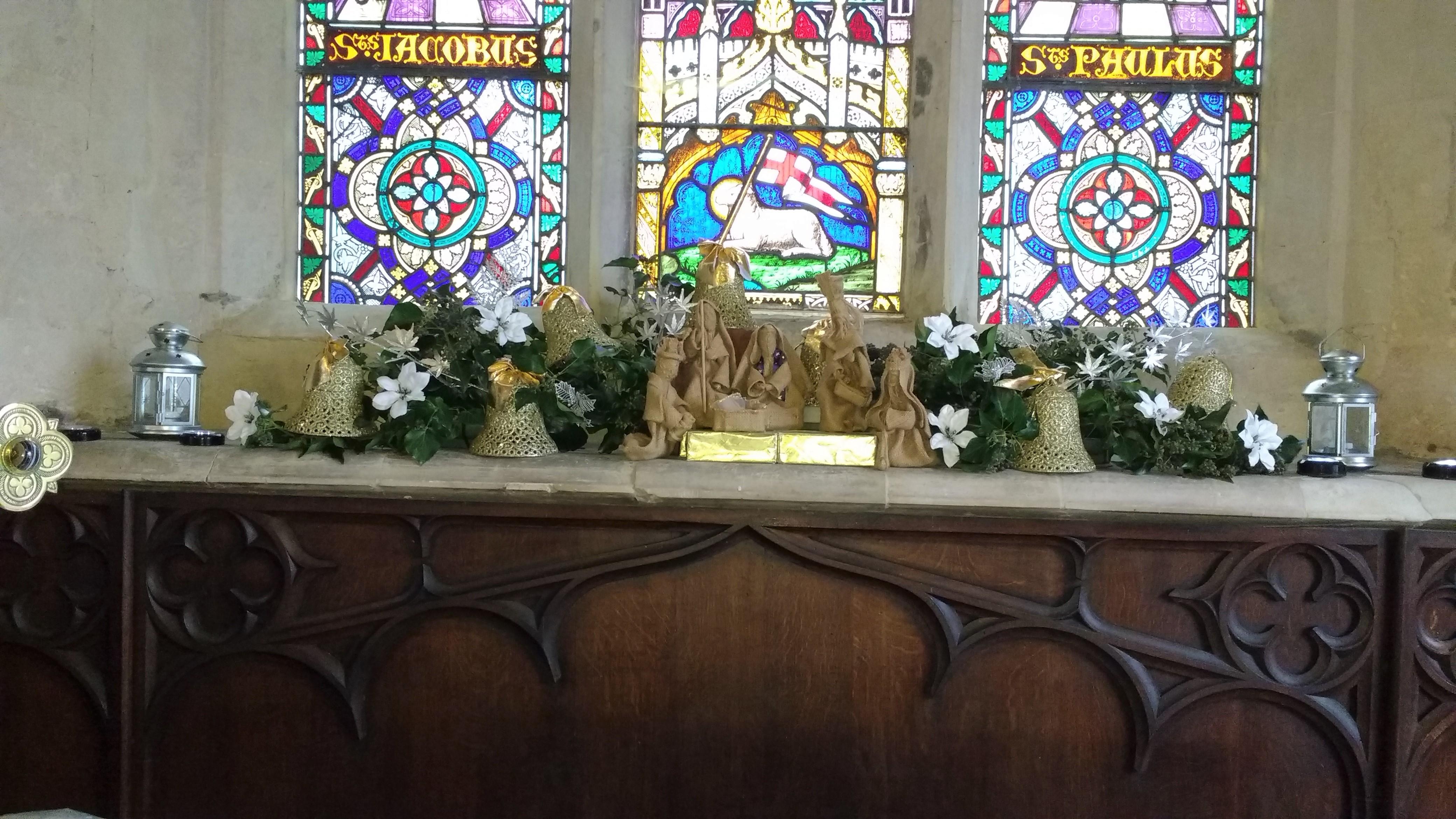 Nativity Scenes in the Church December 2017